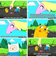 Adventure Time Quotes - Jake the Dog & Lady Rainicorn