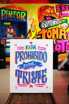 """""""Prohibido estar Triste"""" by Azucena del Carmen, via Behance"""
