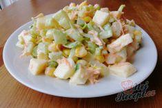 Výborný celerový salát, který dokonale nahradí oblíbený bramborový salát | NejRecept.cz Potato Salad, Potatoes, Ethnic Recipes, Fitness, Food, Meal, Potato, Essen, Hoods