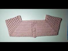 PALA DE CROCHE9 9 A 12 MESES - YouTube Crochet Yoke, Crochet Cardigan, Cute Crochet, Crochet For Kids, Hand Crochet, Crochet Stitches, Crochet Baby Sweaters, Baby Knitting, Crochet Barbie Clothes