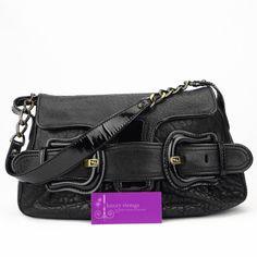 FENDI B Bag black colour calfskin/patent good conditions ref.code-(KCKR-6)