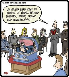 funerals in cartoons   Cartoon: Contortionist Funeral (medium) by cartertoons tagged death ...