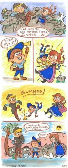 Fix it felix brings back summer By jessie Greenberg
