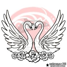swan tattoo...maybe needs a more sailor jerry feel? - especially with the roses at the bottom