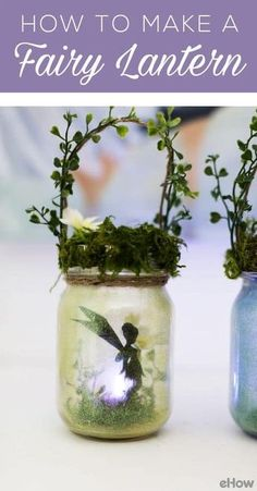 How to Make Charming Summer Fairy Lanterns is part of Mason Jar crafts Videos - These adorable fairy lanterns are not only easy to make but look adorable in a garden or used as a nigh light They will spark your child's imagination Pot Mason Diy, Mason Jar Crafts, Bottle Crafts, Mason Jar Twine, Solar Mason Jars, Mason Jar Lanterns, Kids Crafts, Summer Crafts, Diy And Crafts