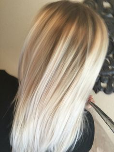 White blonde balayage