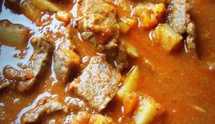 Carne Guisada con Papas (Mexican Braised Beef with Potatoes) – Hispanic Kitche. - Carne Guisada con Papas (Mexican Braised Beef with Potatoes) – Hispanic Kitchen - Authentic Mexican Recipes, Mexican Food Recipes, Mexican Desserts, Filipino Desserts, Comida Latina, Plats Latinos, Kitchen Boss, Beef And Potatoes, Russet Potatoes