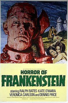 Horror of Frankenstein 1970 Original Vintage Hammer Horror Movie Poster