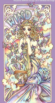 "Elements Air:  ""#Wind,"" by Crysenna, at deviantART."