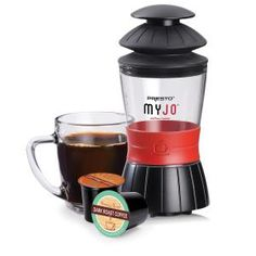 Like K-cup coffee? A MyJo manual single serve can brew anywhere there\'s hot water