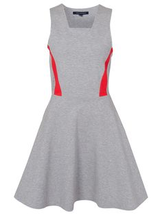 French Connection Bright Lucy Flare Dress, Grey/Souk Sunrise