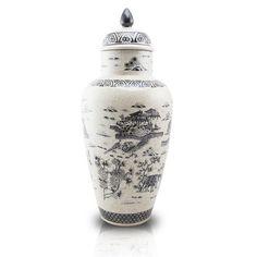 Ceramic Cremation Urn - Mountain Sanctuary