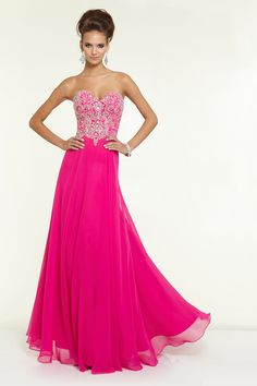 2015 New Arrival Prom Dress Sweetheart A Line Floor Length With Beads Chiffon&Tulle