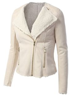 J.TOMSON Womens Sherling Aviator Jacket $30.99 #topseller