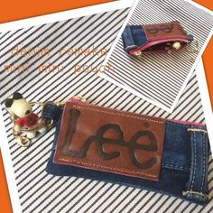 Great idea for business card holder Feather Fashion, Eco Clothing, Hawaiian Quilts, Diy Mode, Denim Bag, Clothes Crafts, Patch Quilt, Business Card Holders, Fabric Material