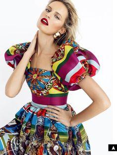 Gorgeous Kurkova in Dolce & Gabbana for Czech Elle.