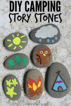 Ready for an adventure? These fun camping story stones are super easy to make and are a great way to encourage creativity. Ready for an adventure? These fun camping story stones are super easy to make and are a great way to encourage creativity. Camping Bedarf, Camping Crafts, Camping With Kids, Family Camping, Camping Hacks, Outdoor Camping, Camping Ideas, Camping Packing, Camping Trailers