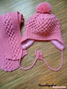 """Здравствуйте. Связала вот такой комплект """"Жемчужная зима"""". Из всех вариантов, предложенных дочке она согласилась только на эту шапку."""