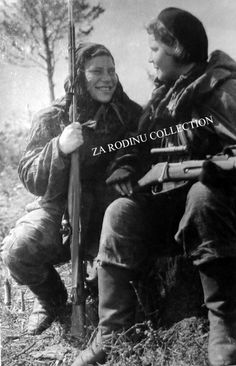 Russian Female snipers 1945 WWII