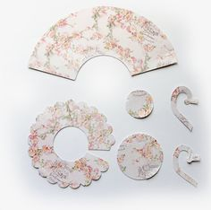 New Listing~Reneabouquets 3D PInk Florals & Stripes Tea Cup Die Cut  Do It Yourself Paper Tea Cup With Link To How To Video  Find your Die cuts here: http://www.Reneabouquets.com or here:https://www.etsy.com/shop/Reneabouquets