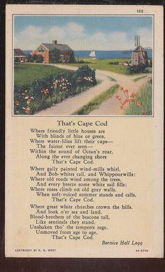 A wonderful cozy poem: 'That's Cape Cod' (1932) by American author Bernice Hall Legg (1875-1945).