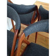 Danish Teak Set of 6 Dining Chairs by Kai Kristiansen