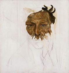 Lucian Freud:  Unfinished Self Portrait  (1956)