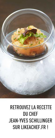 Découvrez la recette du tartare de saumon mariné sur un lit de glace de Jean-Yves Schillinger ! #recette #saumon #tartare #chef