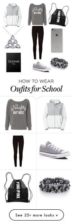 """Casual School Outfit #2"" by brianawest on Polyvore featuring mode, The North Face, Converse, Incase, The Limited et Allurez"