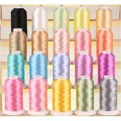 NEW ThreadNanny Premium Quality Poly Machine Embroidery Threads Pastel Colors ThreadNanny http://www.amazon.com/dp/B001S063LG/ref=cm_sw_r_pi_dp_D6PUwb146AFQ7