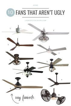 10 Ceiling Fans That
