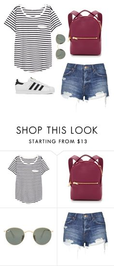 """""""#81"""" by tropicaldoze ❤ liked on Polyvore featuring H&M, Sophie Hulme, Ray-Ban, Topshop and adidas"""
