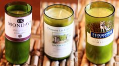 Wine Bottle Crafts for DIY Decor: Learn how to turn your old wine bottles into custom candles