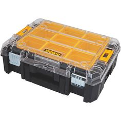 Dewalt Tstak Organizer With Clear Top And 7 Removable
