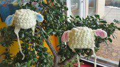 Lamb hats for my little lamb grandtwins! Lamb, Straw Bag, Twins, Crafts, Manualidades, Handmade Crafts, Diy Crafts, Twin, Craft
