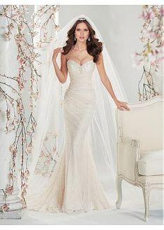 Sweetheart Neckline Natural Waistline Mermaid Wedding Dress
