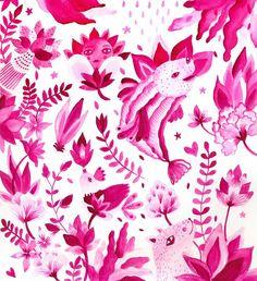 <3 Aitch pink pattern <3