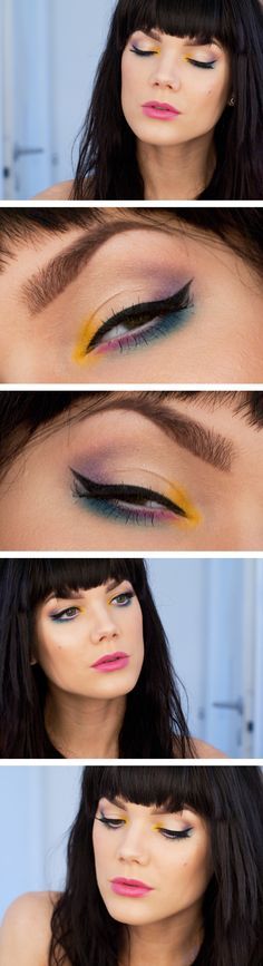 INSPIRATION :: Avant Garde Eyes by Linda Hallberg :: There is a product list, but it's mainly Swedish brands, so yea...nifty idea, though.   #nyheter24