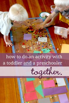Doing an Activity with Both a Toddler