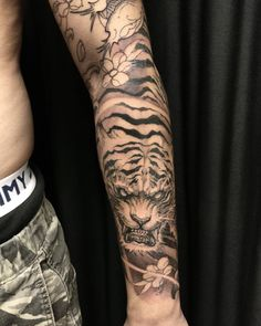 Dragon and tiger sleeve in progress. #chronicink #asiantattoo #asianink #irezumi #tattoo #tiger by David Hoang