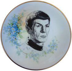 Spock Portrait Plate -  Altered Vintage Plate