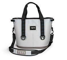 Camp Kitchen - Yeti Hopper Cooler 30 Fog GrayTahoe Blue -- Read more reviews of the product by visiting the link on the image.