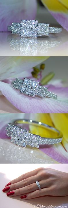 Cute Diamond Ring, .68 ct. G-SI/VS WG18K - Visit: schmucktraeume.com Mail: info[at]schmucktraeume.com