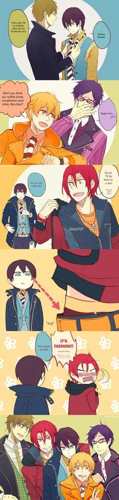 Drawn by Lightning--Strikes ... Free! - Iwatobi Swim Club, haruka nanase, haru nanase, haru, free!, iwatobi, makoto tachibana, makoto, tachibana, nagisa hazuki, nagisa, hazuki, nanase, rei, rei ryugazaki, ryugazaki, rin, rin matsuoka, matsuoka: