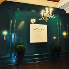 """Huntley sconce_Atlas, the """"fearlessly American"""" restaurant coming to Buckhead January 2015."""