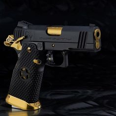 """@infinity_firearms #1911 3.75"""" Officers 9mm with DLC Finish and TiN Accents…"""
