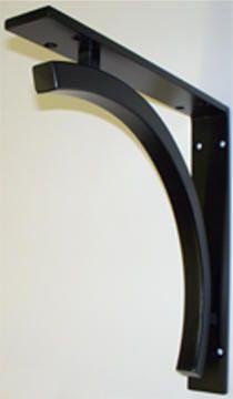 "Wrought Iron Shelf Brackets, SHB132 Tamzin shelf bracket/corbel 14""x14"" $185 from Wrought Iron Solutions, LLC in Ripon, WI"