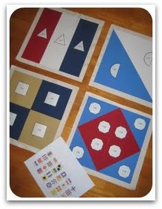 Nautical flags are a great way to practice fractions!