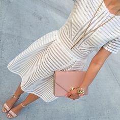 White & blush.