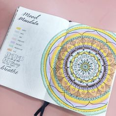 Fiona's Mood Mandala in her Bullet Journal  Brought to the community by Fiona (@bujo.mama),